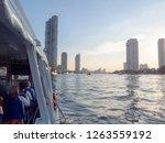 chao phraya river bangkok... | Shutterstock . vector #1263559192
