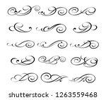 elegant elements of design... | Shutterstock .eps vector #1263559468