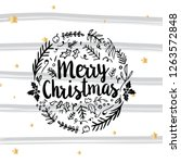 merry christmas. typography.... | Shutterstock .eps vector #1263572848