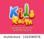 vector colourful emblem kids... | Shutterstock .eps vector #1263580078