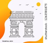 travel triumphal arch poster... | Shutterstock .eps vector #1263581875