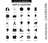 map and location glyph vector... | Shutterstock .eps vector #1263581998
