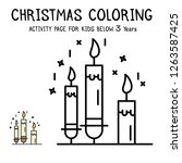 christmas coloring actvity book ... | Shutterstock .eps vector #1263587425