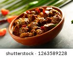 famous indian cuisine  boneless ...   Shutterstock . vector #1263589228