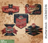 vector vintage red label set. | Shutterstock .eps vector #126360146