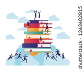 group of business with books...   Shutterstock .eps vector #1263602815