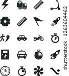 solid black vector icon set  ... | Shutterstock .eps vector #1263604462