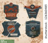 surf vintage label set | Shutterstock .eps vector #126360485