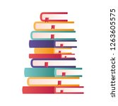 stack of books isolated icon | Shutterstock .eps vector #1263605575