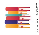 stack of books isolated icon | Shutterstock .eps vector #1263605578