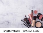 a collection of make up and... | Shutterstock . vector #1263611632