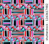 seamless textile pattern print .... | Shutterstock . vector #1263617482