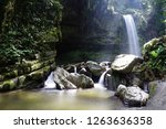 mahua waterfall is a plunge... | Shutterstock . vector #1263636358