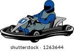 man racing go kart | Shutterstock .eps vector #1263644