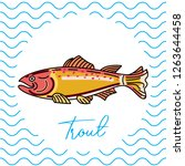 fish for food. vector... | Shutterstock .eps vector #1263644458