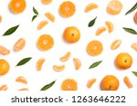 composition with tangerines and ... | Shutterstock . vector #1263646222