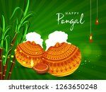 south indian tamil festival... | Shutterstock .eps vector #1263650248