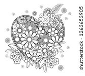 Heart With Floral Pattern....