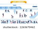 subway flat illustration. city... | Shutterstock .eps vector #1263670462