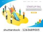 startup fail landing page... | Shutterstock . vector #1263689005