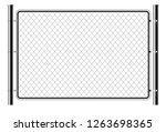 realistic metal chain link... | Shutterstock .eps vector #1263698365