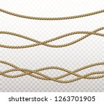 rope set isolated on... | Shutterstock .eps vector #1263701905