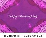 purple background. illustration ... | Shutterstock . vector #1263734695