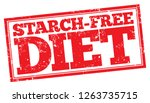 starch free diet. red rubber... | Shutterstock .eps vector #1263735715