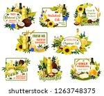 natural vegetable oils of... | Shutterstock .eps vector #1263748375