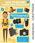 photographer and professional... | Shutterstock .eps vector #1263750535