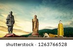 top tallest statue in the world | Shutterstock . vector #1263766528