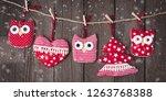 christmas vintage ornaments... | Shutterstock . vector #1263768388