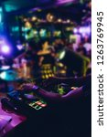 dj plays live set and mixing... | Shutterstock . vector #1263769945