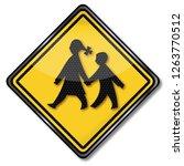 school children on the way to... | Shutterstock . vector #1263770512