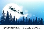 christmas background   winter... | Shutterstock .eps vector #1263772918
