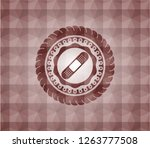 bandage plaster icon inside red ... | Shutterstock .eps vector #1263777508