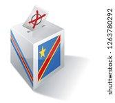 ballot box of the democratic... | Shutterstock . vector #1263780292