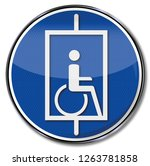 lift for wheelchair users | Shutterstock . vector #1263781858