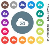cloud mail system flat white... | Shutterstock .eps vector #1263789412