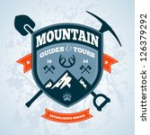 Mountain Themed Outdoors Emble...