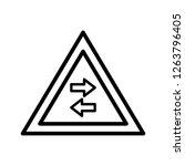 vector two way traffic crosses... | Shutterstock .eps vector #1263796405