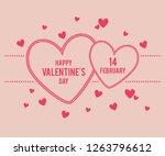 valentine love background | Shutterstock .eps vector #1263796612