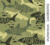 Seamless  Camouflage Shark...