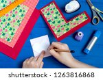 making greeting card for... | Shutterstock . vector #1263816868