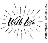 with love lettering.... | Shutterstock .eps vector #1263817252