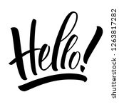 hello lettering. handwritten... | Shutterstock .eps vector #1263817282