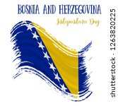 1 march  bosnia and herzegovina ... | Shutterstock .eps vector #1263820225