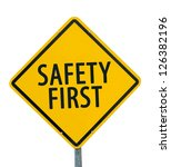 """yellow traffic sign """"safety...   Shutterstock . vector #126382196"""