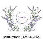 vector lavender wreath. all... | Shutterstock .eps vector #1263822865