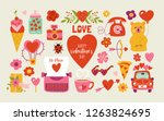 valentine's day cute elements... | Shutterstock .eps vector #1263824695